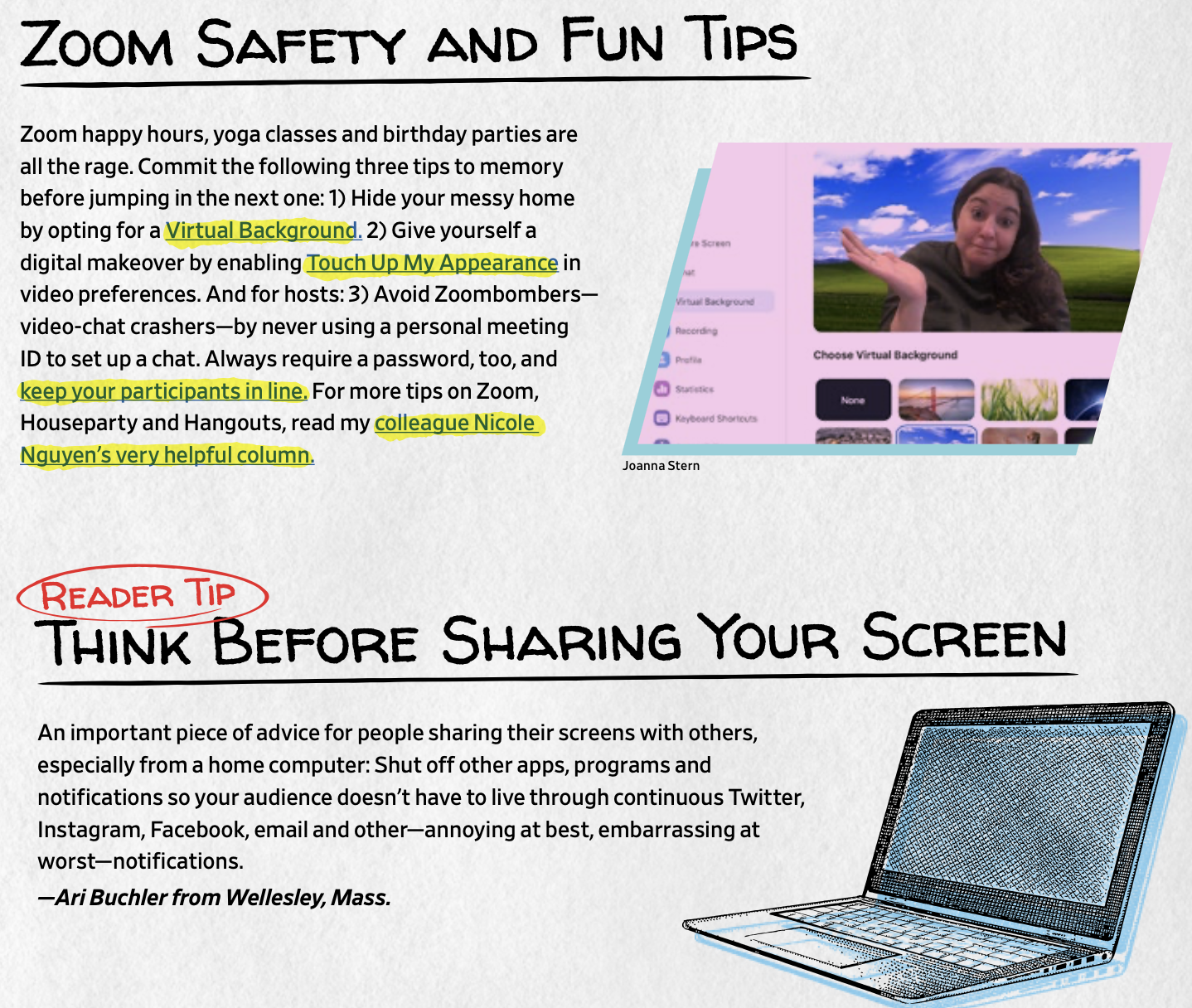Zoom Safety AND Fun Tips