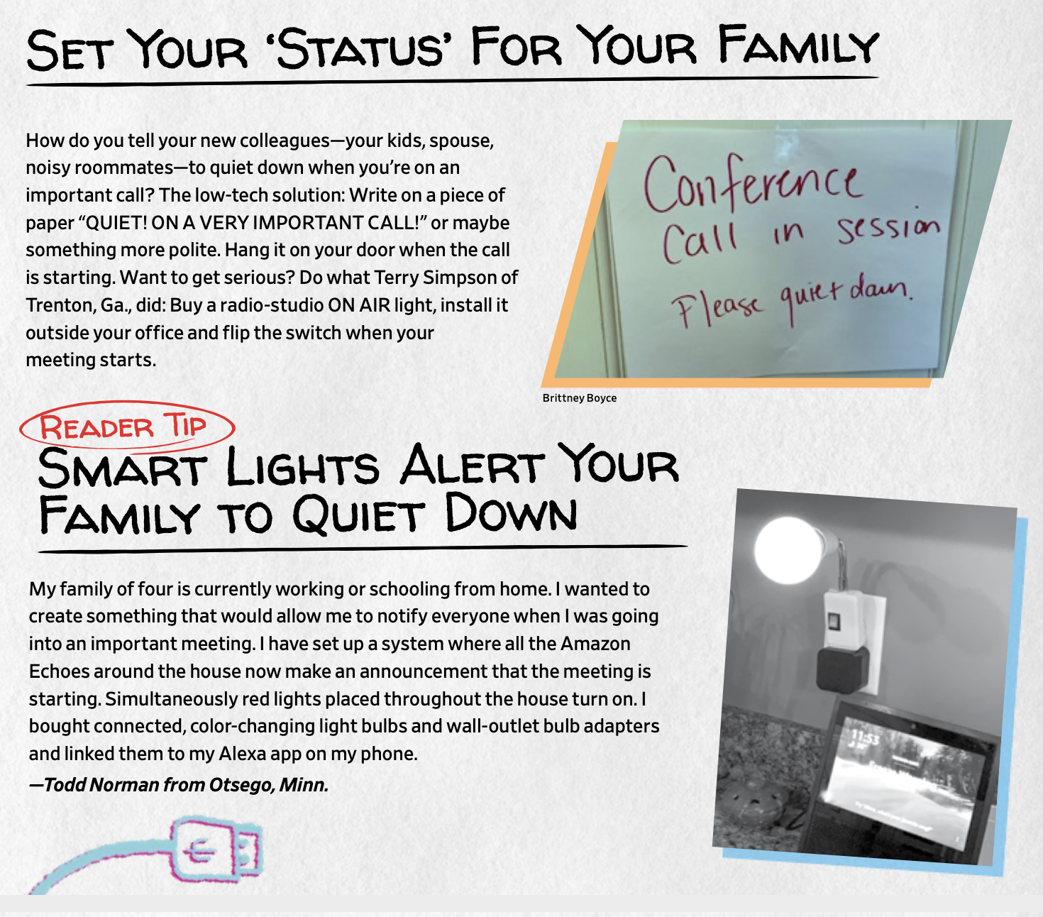 "Set Your ""Status"" For your Family."